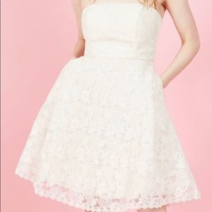 Geode Ivory Lace Dress - ModCloth Brand